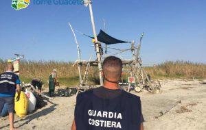 Abusivismo a Torre Guaceto: l'intervento della Guardia Costiera