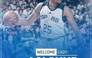 E' ufficiale: l'haitiano Cady Lalanne è il nuovo pivot della New Basket Brindisi