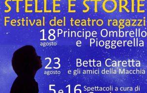 """Oggi """"Principe Ombrello e Pioggerella"""" apre """"Stelle e Storie"""", festival del teatro ragazzi"""