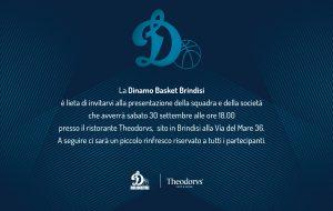 Sabato 30 la Dinamo Basket Brindisi  si presenta alla città