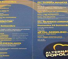 Festa Regionale AP: i dirigenti locali a San Menaio con Alfano, Lupi e Lorenzin