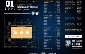 New Basket Brindisi-Torino: dalle 12.00 di martedì in vendita i biglietti