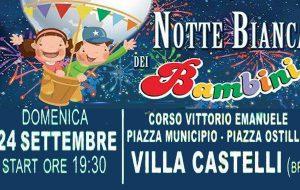Questa sera Villa Castelli vive la magia della Notte Bianca dei Bambini