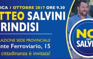 Domenica mattina Matteo Salvini a Brindisi
