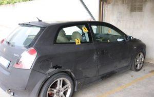 Trovata l'auto crivellata di colpi a Sant'Elia