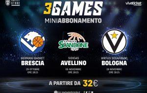 #IO CI SONO PACK: in vendita il mini abbonamento per le prossime tre gare interne della Happy Casa Brindisi