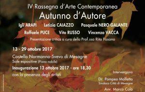 """Rassegna d'Arte Contemporanea """"Autunno d'Autore"""" al Castello di Mesagne"""