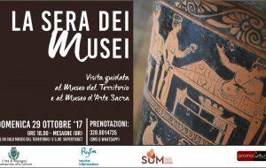 """Domenica 29 """"La Sera Dei Musei: visita guidata al Museo del Territorio e al Museo d'Arte Sacra di Mesagne"""