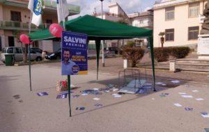 Distrutto gazebo in provincia di Caserta: la solidarietà di Noi con Salvini Brindisi