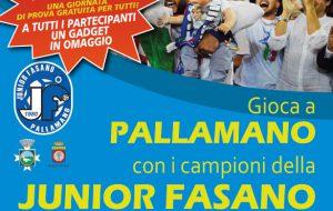 Domenica 8 ottobre in piazza Ciaia l'Open Day della Junior Fasano