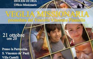 A Villa Castelli la veglia missionaria della Diocesi di Oria
