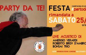 Party da te! Sabato 25 la festa per la campagna di adesione a Brindisi Bene Comune