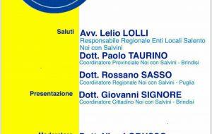"""Sabato si presenta il coordinamento cittadino di """"Noi Con Salvini"""""""