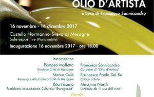 """La Mostra itinerante """"Olio d'Artista"""" fa tappa al Castello di Mesagne"""