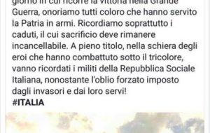 """Post fascista dell'Assessore, CGIL: """"intervenga il Prefetto"""""""