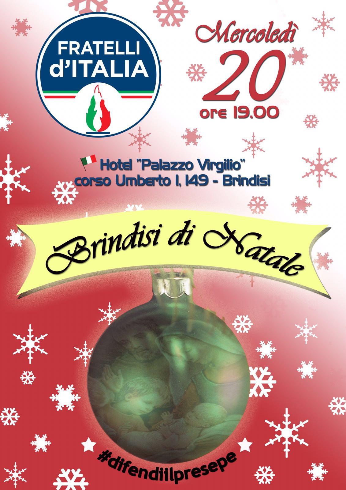 Scambio Auguri Di Natale.Fratelli D Italia Mercoledi A Palazzo Virgilio Scambio Di Auguri Di Buon Natale Brindisi Brundisium Net