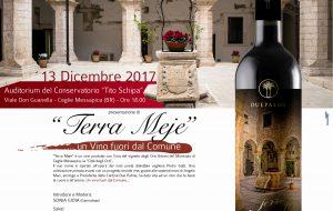 Terra meje: arriva il vino proveniente dagli orti urbani del Municipio di Ceglie