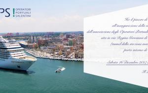 Domani l'inaugurazione della sede della OPS (Operatori Portuali Salentini)