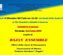 Lions Club e Leo Club Brindisi: domani concerto di Natale per beneficenza