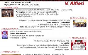 """Teatro in vernacolo a Latiano: domenica """"Pani, amori e… tradimienti"""""""