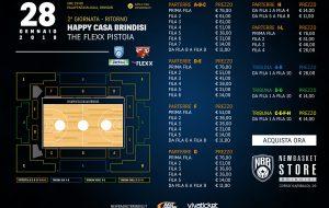 Happy Casa Brindisi-Pistoia: in vendita i biglietti per il primo spareggio salvezza