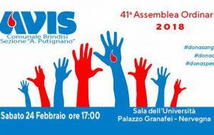 Sabato 24 la 41° Assemblea ordinaria dei Soci dell'Avis Comunale di Brindisi