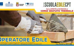 """Corso Gratuito Triennale per """"Operatore Edile"""""""