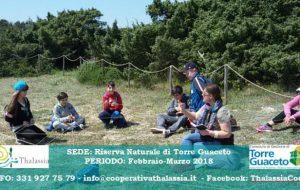 La Cooperativa Thalassia organizza un Corso per animatori ambientali a Torre Guaceto