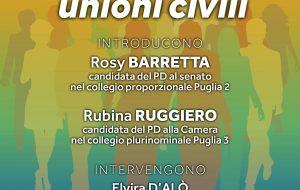 Dalla famiglia tradizionale alle unioni civili: alle 18.00 incontro dibattito con Rosy Barretta e Rubina Ruggiero