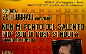 Non mi pento del Salento: la Stand Up Comedy di Massimo Giordano a Teatri A Vapore