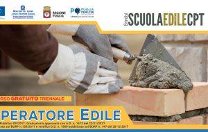 Costruisci il tuo futuro: dalla Scuola Edile di Brindisi un corso gratuito per conseguire la qualifica di Operatore Edile