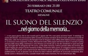 Il suono del silenzio… nel Giorno della Memoria al Teatro Comunale di Mesagne