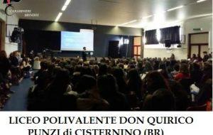 I Carabinieri incontrano gli studenti del liceo di Cisternino
