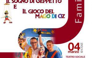 Teatro Famiglia: domenica 3 appuntamento con Guizzi di Marionette