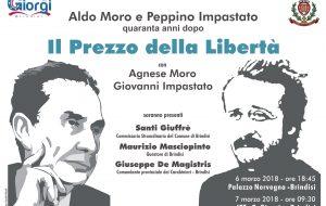 Impastato e Moro, due storie da ricordare: il 6 Marzo a Brindisi Agnese Moro, figlia di Aldo, e Giovanni Impastato, fratello di Peppino