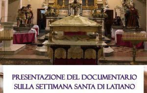 I riti della Settimana Santa a Latiano: mercoledì la proiezione pubblica del documentario
