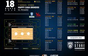In vendita i biglietti per Happy Casa Brindisi-VL Pesaro