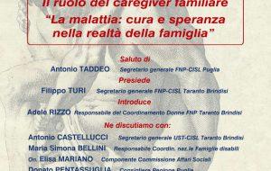 Il ruolo del caregiver familiare: giovedì a Francavilla convegno organizzato dalla Fnp Cisl