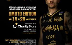 Partita l'asta di beneficenza per le maglie nere dell'Happy Casa Brindisi – limited edition