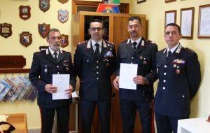 Premiati i Carabinieri che hanno arrestato gli autori della tentata rapina a mano armata al centro scommesse Win Time