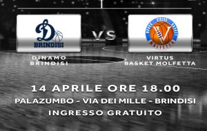 La Dinamo Brindisi sfida la capolista Virtus Molfetta, appuntamento da non fallire
