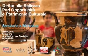 """A Mesagne seminario su """"Diritto Alla Bellezza. Pari Opportunità. Patrimonio Culturale"""""""