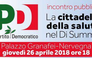 La Cittadella della Salute nel Di Summa: la proposta del PD e della coalizione di Rossi. Se ne parla giovedì 26 a Palazzo Nervegna