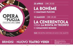 """Al Verdi di Brindisi protagonista l'opera: appuntamenti con """"La Bohème"""" e """"La Cenerentola"""""""