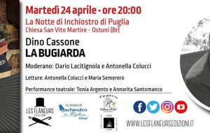"""La notte di Inchiostro di Puglia: ad Ostuni si presenta il romanzo """"La Bugiarda"""" di Dino Cassone"""