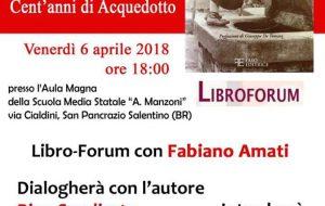 """Domani, a S. Pancrazio, Amati presenta """"La storia assetata. Cent'anni di Acquedotto"""""""