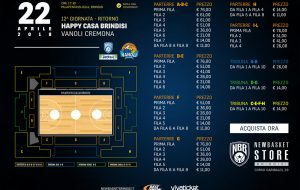 In vendita i biglietti per Brindisi-Cremona