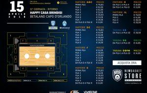 Brindisi-Capo d'Orlando: in palio la Lega A! Biglietti in vendita a partire da domani
