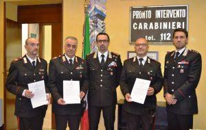 Intervennero dopo ferimento a colpi di fucile: tre Carabinieri premiati dal Comandante Provinciale