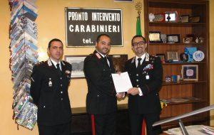 Il Comandante Provinciale dei Carabinieri premia i militari distintisi in attività di servizio